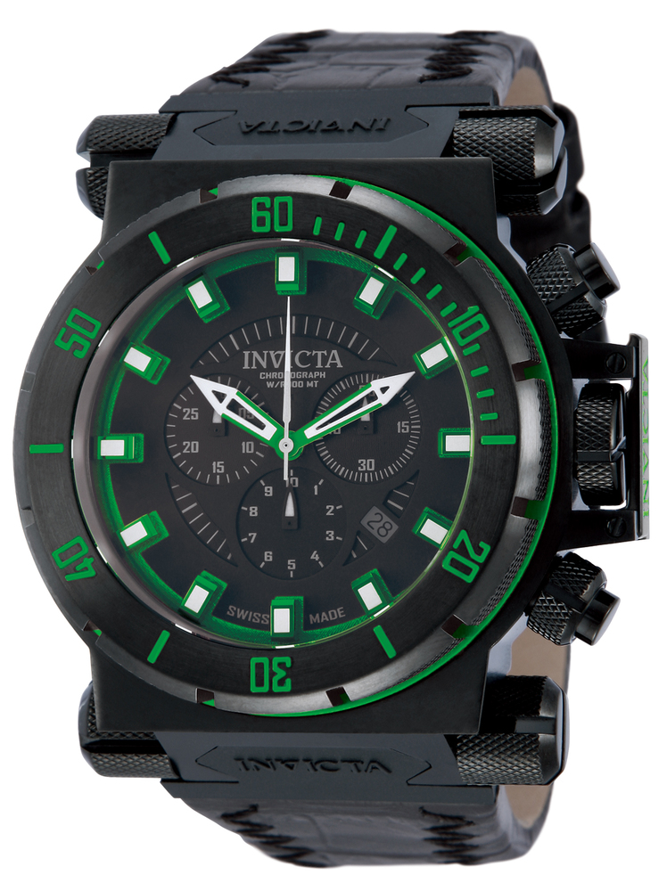 invicta coalition forces watch in black green at