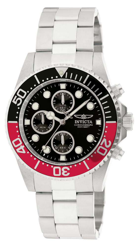 Invicta Pro Diver Quartz Watch - Stainless Steel case Stainless Steel band - Model 1770