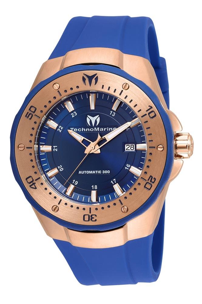 TechnoMarine Manta Sea Automatic Mens 48 Stainless Steel Case Blue Dial - Model TM-215087