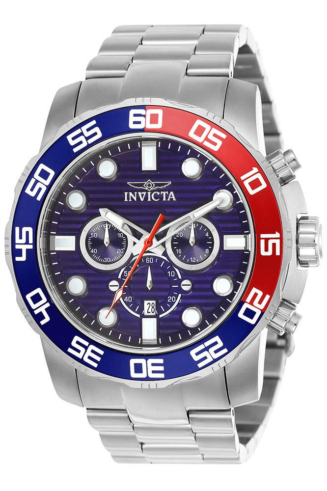 Invicta Pro Diver SCUBA Mens Quartz 50mm Stainless Steel Case Blue Dial - Model 22225
