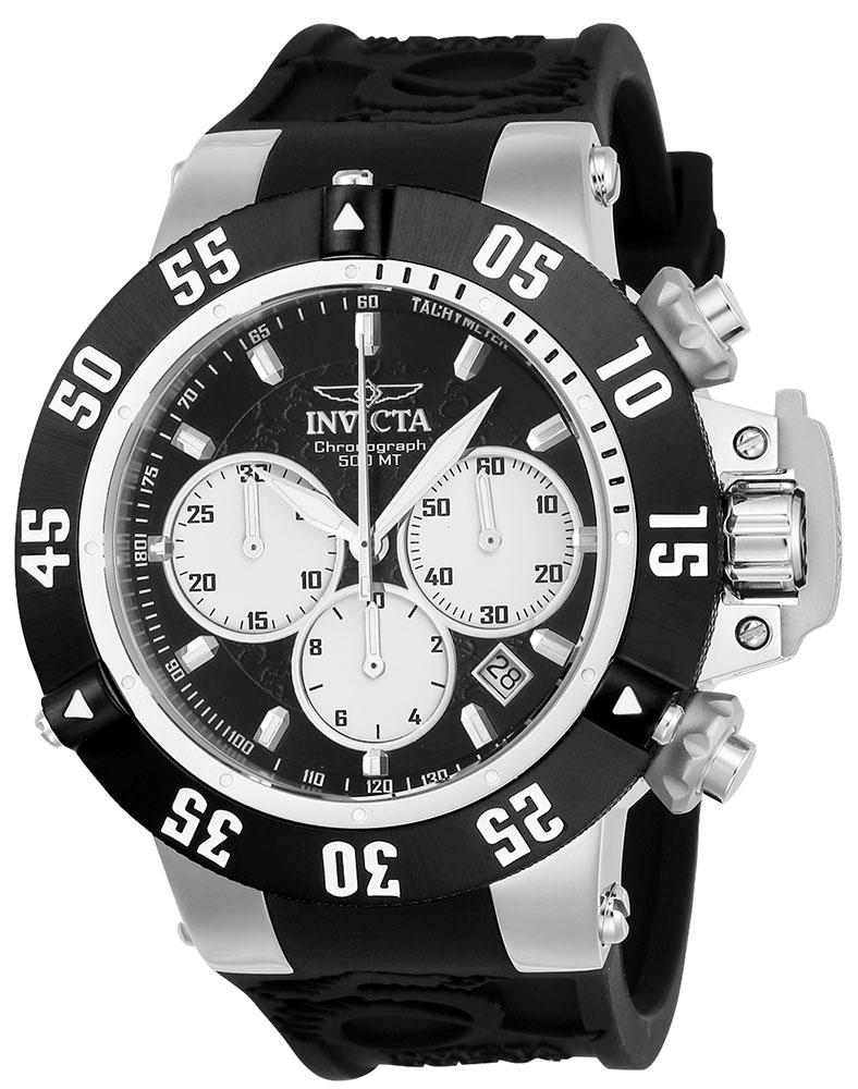 Invicta Subaqua Noma III Quartz Mens Watch - 50mm Stainless Steel Case, Silicone Band, Black (22919)