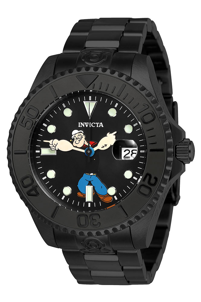 invicta popeye character collection mens automatic 47mm