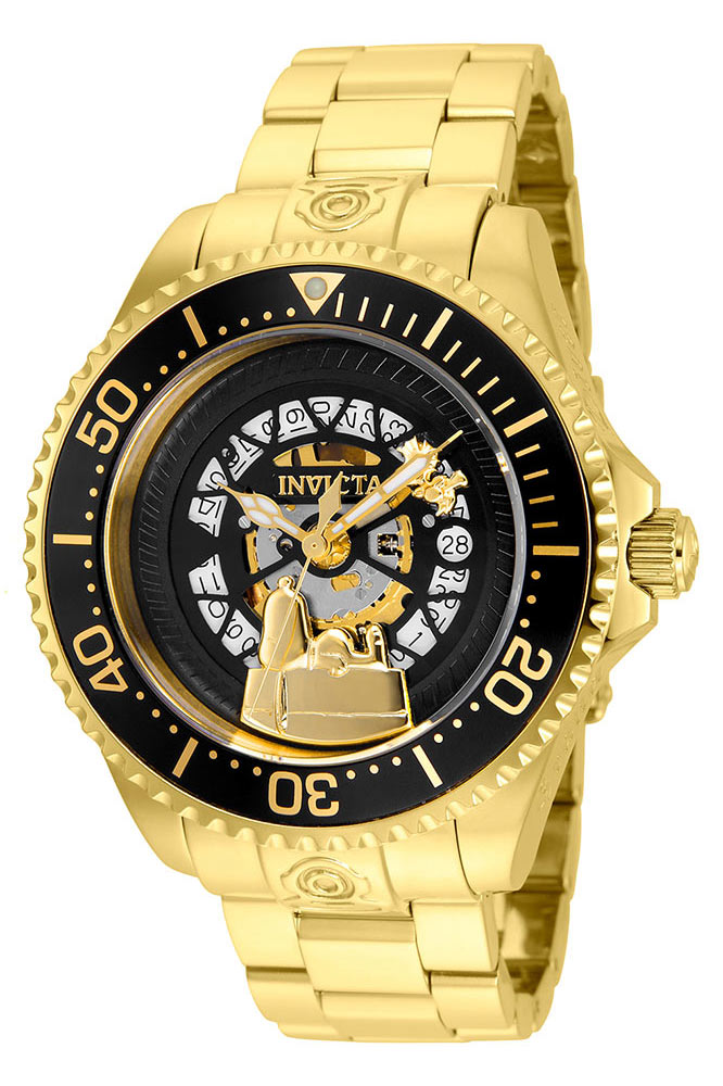invicta character snoopy collection mens quartz 47mm gold