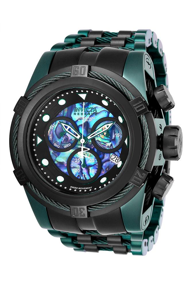 Invicta Reserve Bolt Zeus Mens Quartz 53mm Green, Black Case Black, Blue, Green Dial - Model 25920