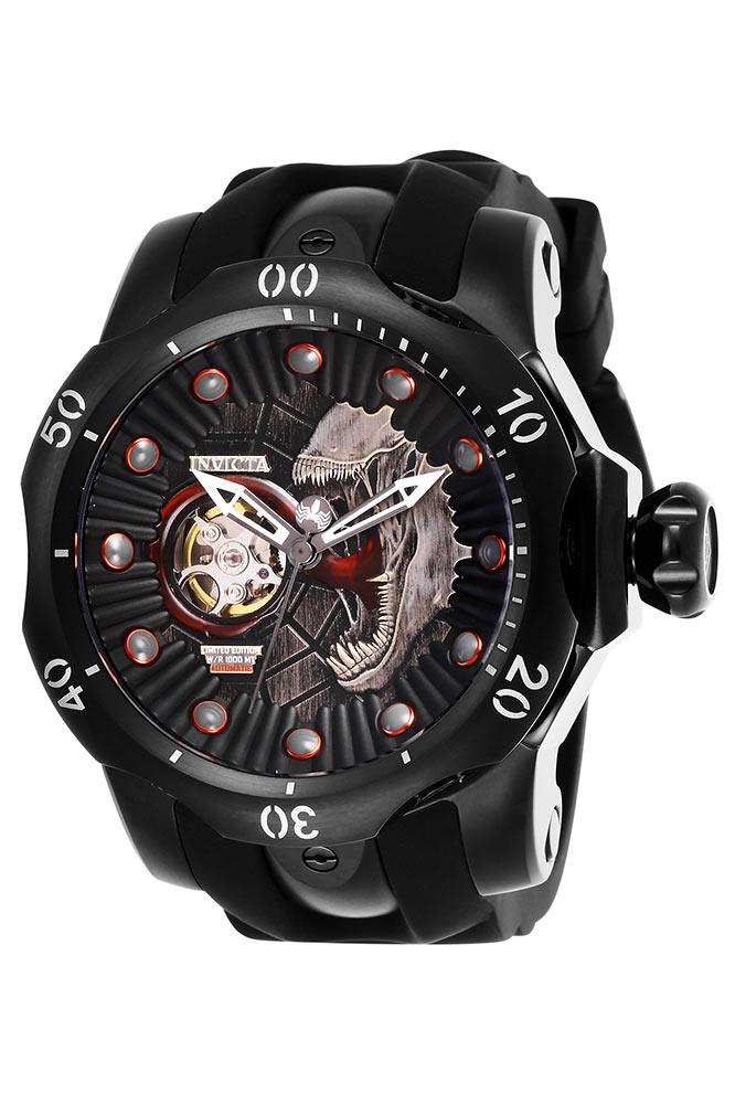 invicta marvel mens automatic 537mm black case black dial