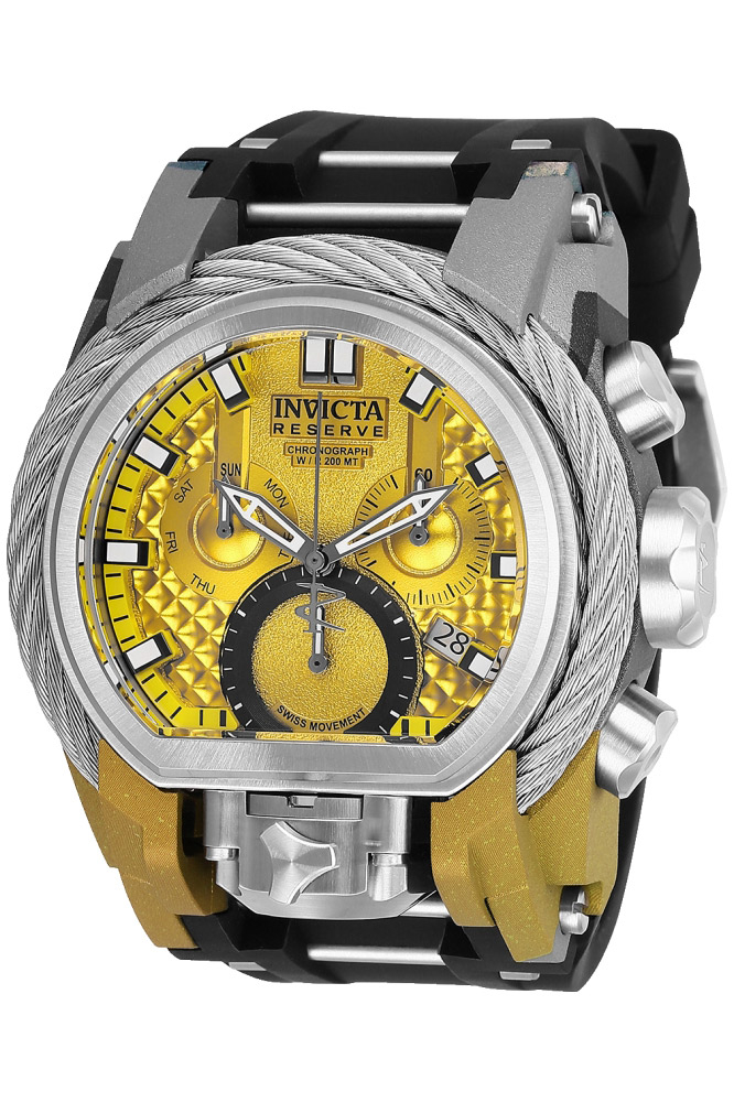 Invicta Reserve Bolt Zeus Mens Quartz 52mm Stainless Steel Aqua-Plating Color May Vary - Model 26444