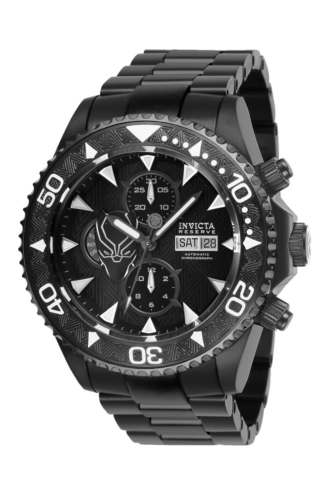 Invicta Marvel Limited Edition Black Panther Mens Automatic 47 mm Black Case Black Dial - Model 27158