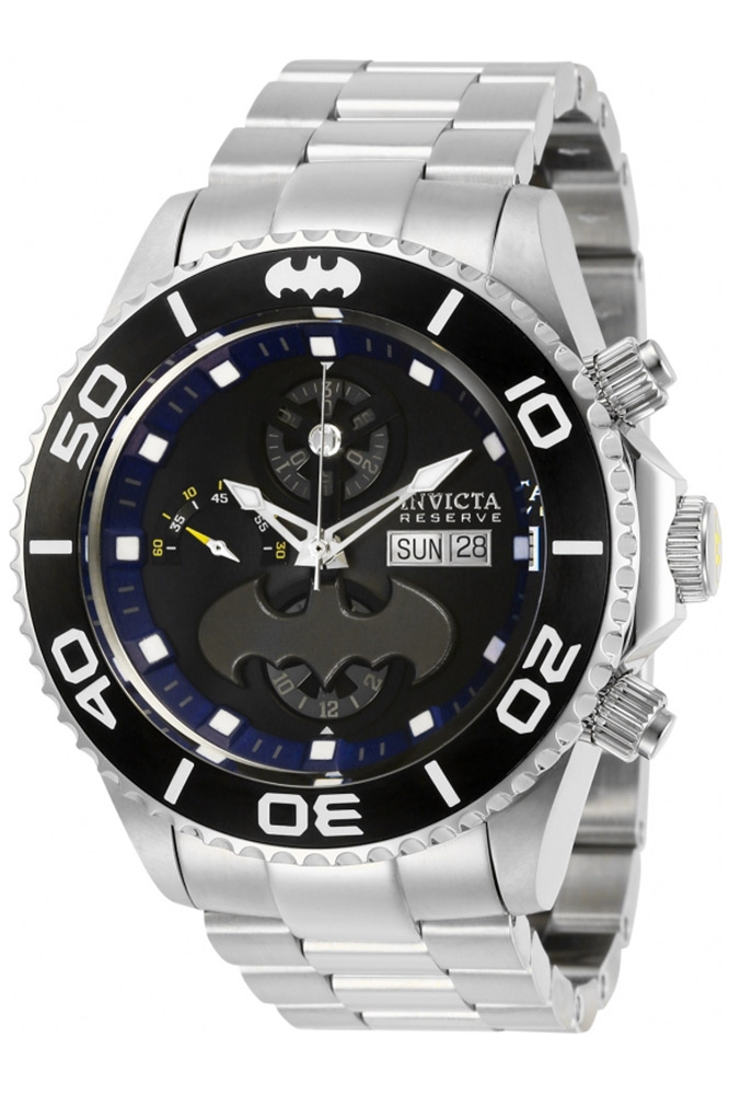Invicta DC Comics Limited Edition Batman Mens Automatic 47 mm Black, Stainless Steel Case Black Dial - Model 27173