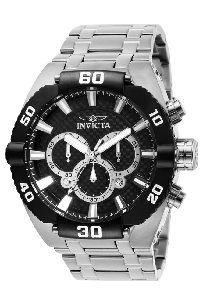 Invicta Coalition Forces Mens Quartz 50 mm Stainless Steel Case Black Dial - Model 27263