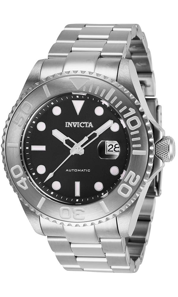 Invicta Pro Diver Mens Automatic 47 mm Stainless Steel Case Black Dial - Model 27304