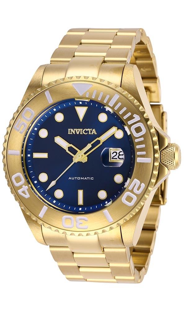 Invicta Pro Diver Mens Automatic 47 mm Gold Case Blue Dial - Model 27307