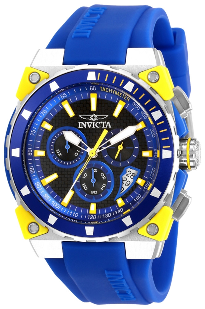 Invicta S1 Rally Mens Quartz 47 mm Stainless Steel Case Black Dial - Model 27343
