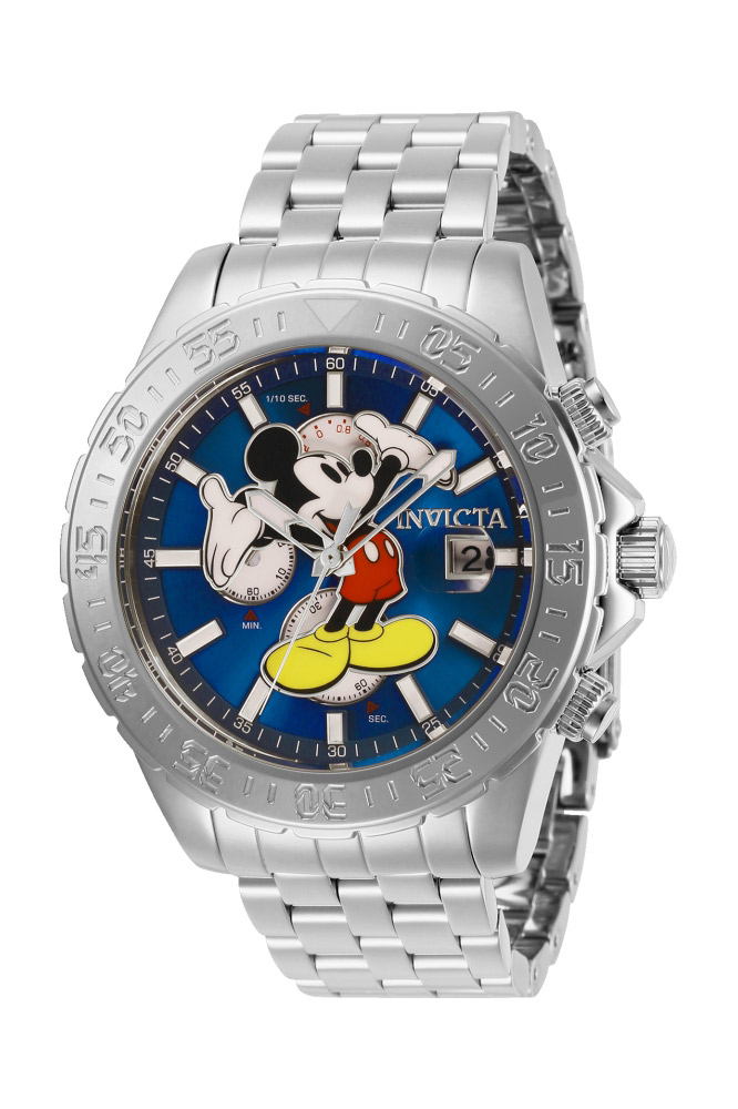 Invicta Disney Limited Edition Mickey Mouse Mens Quartz 47 mm Stainless Steel Case Blue Dial - Model 27373