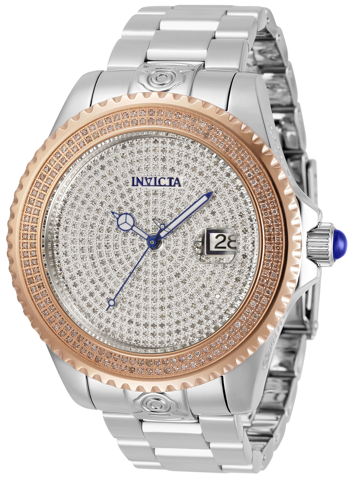 Invicta Pro Diver Automatic Mens Watch 2.68 Carat Diamond 47mm - Model 31058