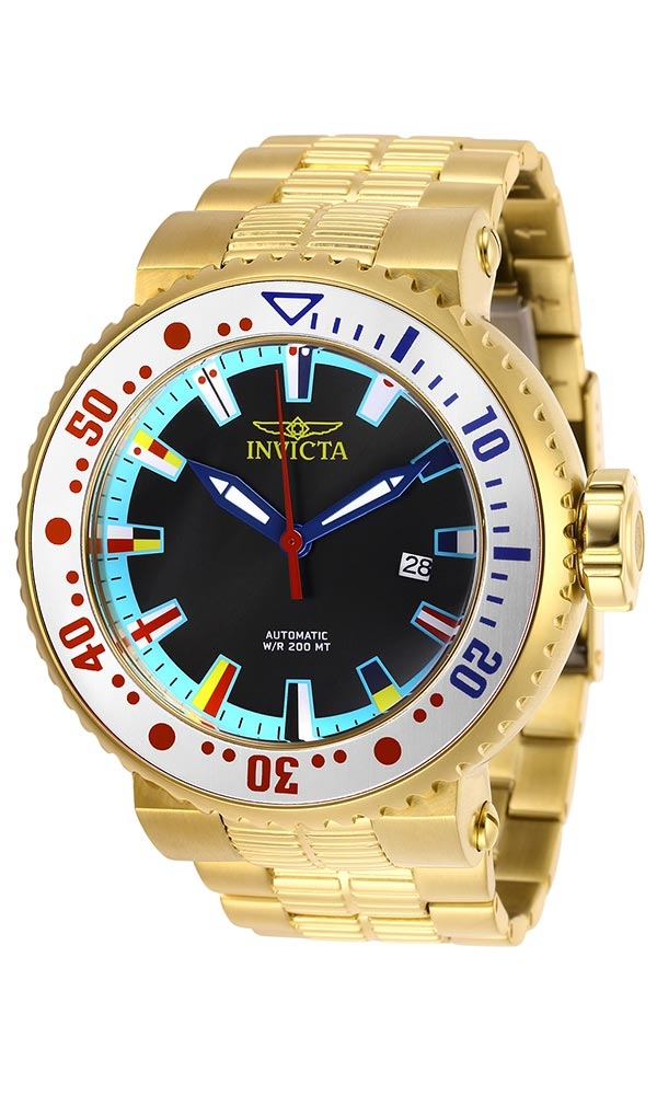 Invicta Grand Pro Diver Intercontinental Mens Automatic 52 mm Gold, Silver, Red, Blue Case Black, Ocean Blue, Red, Yellow, Blue, White Dial - Model 27666