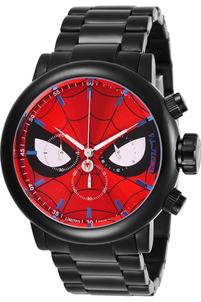Invicta Marvel Limited Edition Spiderman Mens Quartz 48 mm Black Case Red, Black, White Dial - Model 28144
