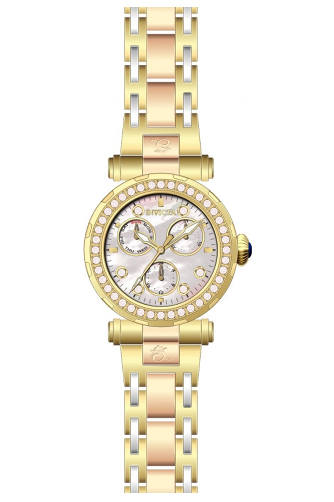 Invicta Subaqua Diamond Womens Quartz 38 mm Gold Case White Dial - Model 28551