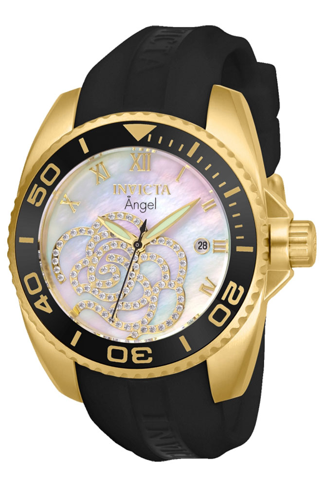 Invicta Connection Womens Quartz 38mm Stainless Steel Case, Platinum Dial - Model 28678