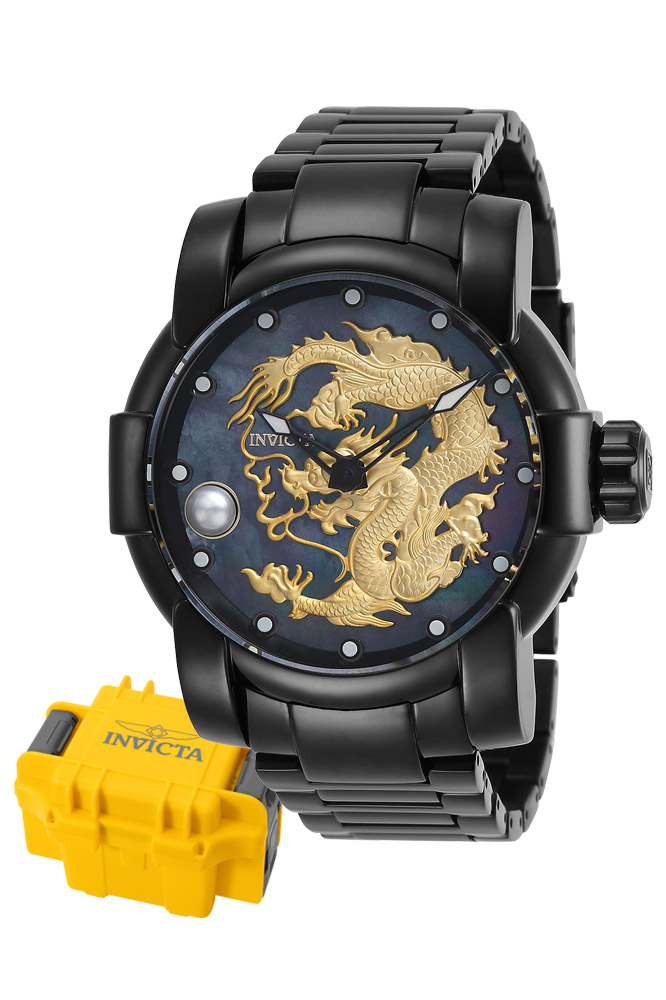 Invicta Speedway Mens Automatic 47 mm Black Case Black Dial - Model 28707