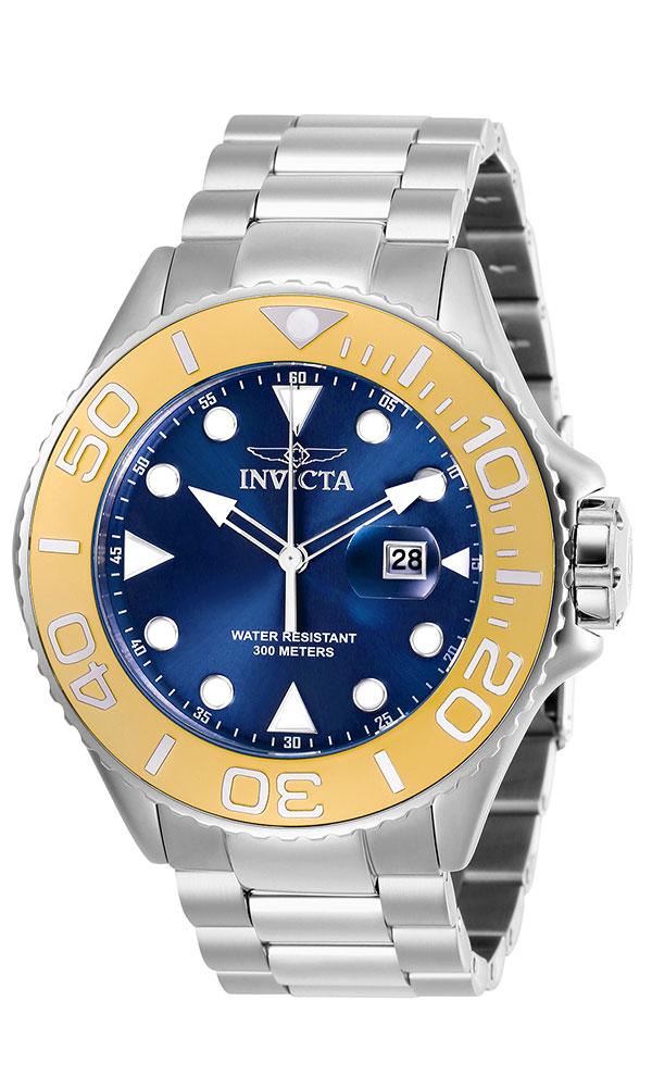 Invicta Pro Diver Mens Quartz 50 mm Stainless Steel, Gold Case Blue Dial - Model 28768