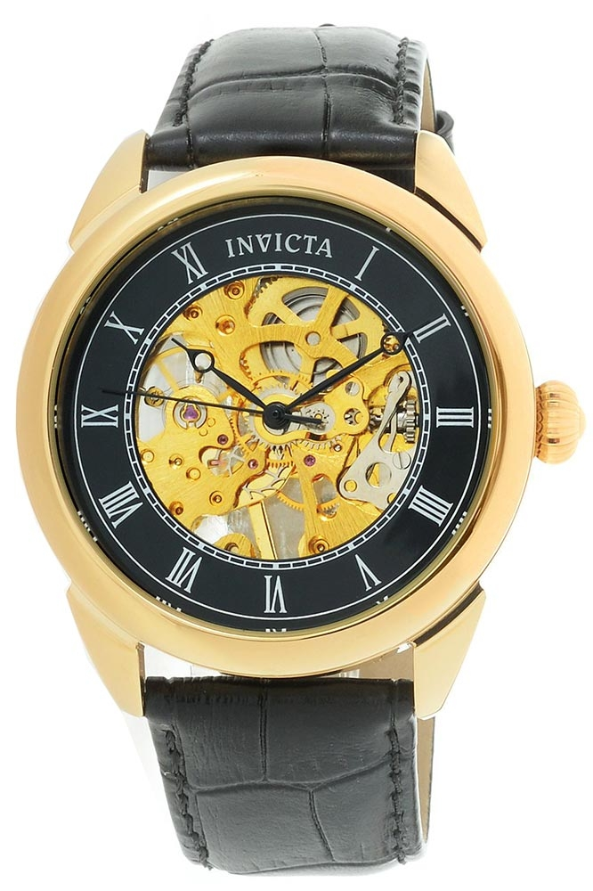 Invicta Specialty Mens Mechanical 42 mm Gold Case Black Dial - Model 28811