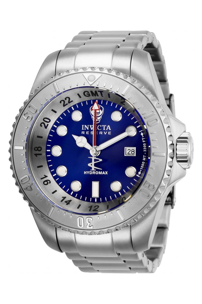 Invicta Reserve Mens Quartz 52 mm Stainless Steel Case Blue Dial - Model 29727