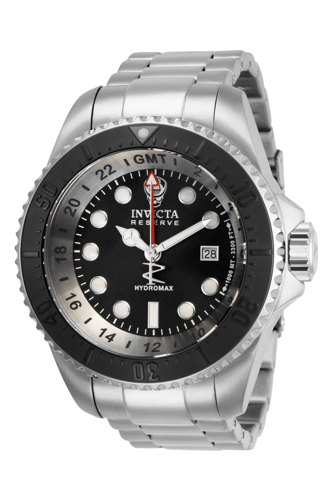 Invicta Reserve Mens Quartz 52 mm Stainless Steel, Black Case Black Dial - Model 29734
