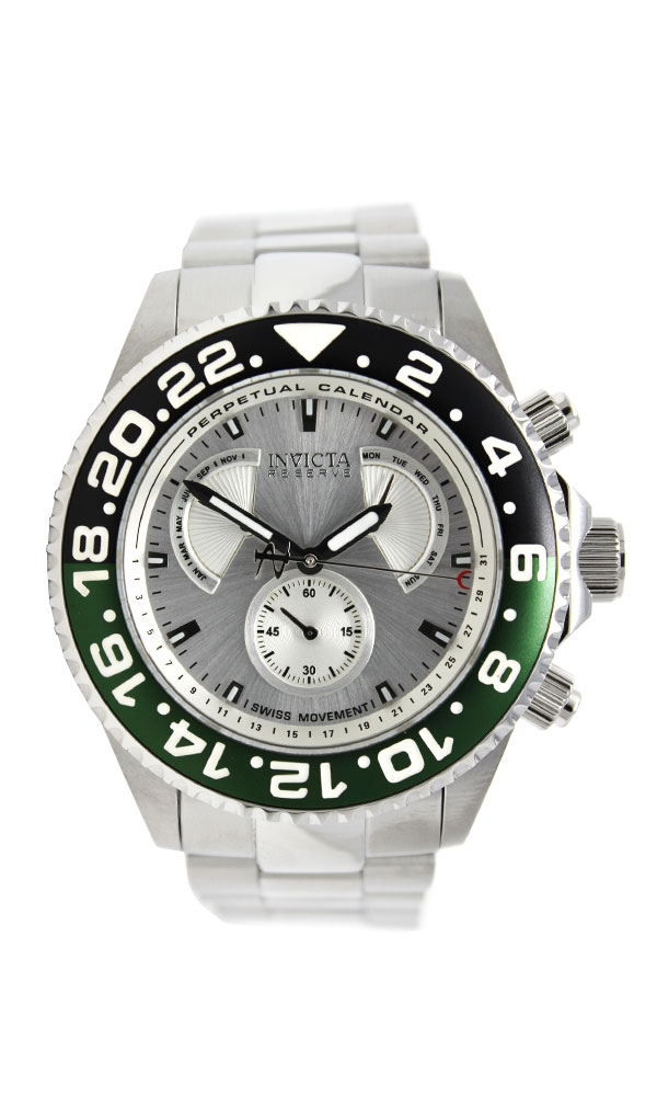 Invicta Reserve Pro Diver Mens Quartz 47 mm Stainless Steel Case Silver Dial - Model 29957