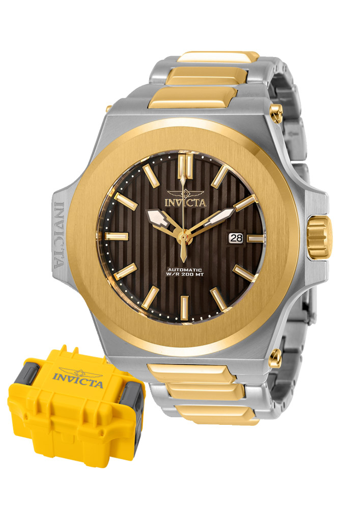 Invicta Akula Mens Automatic 58 mm Gold, Stainless Steel Case Brown Dial - Model 30195