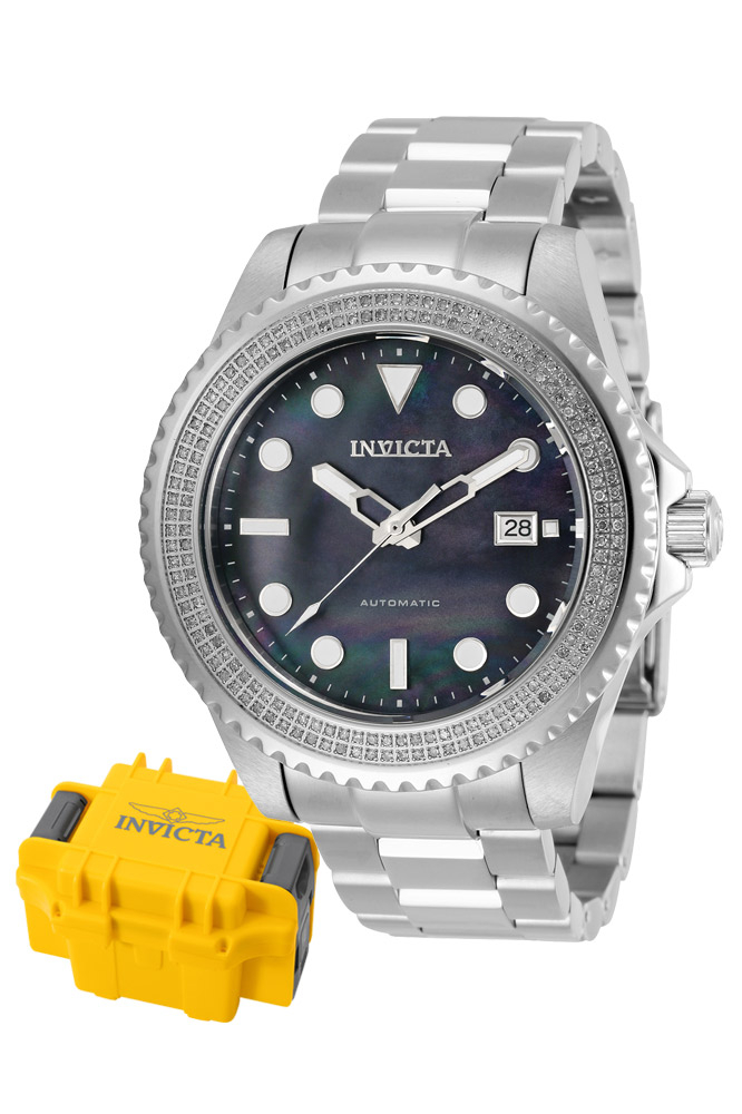 Invicta Pro Diver Mens Diamond Automatic 47mm Stainless Steel - Model 30325