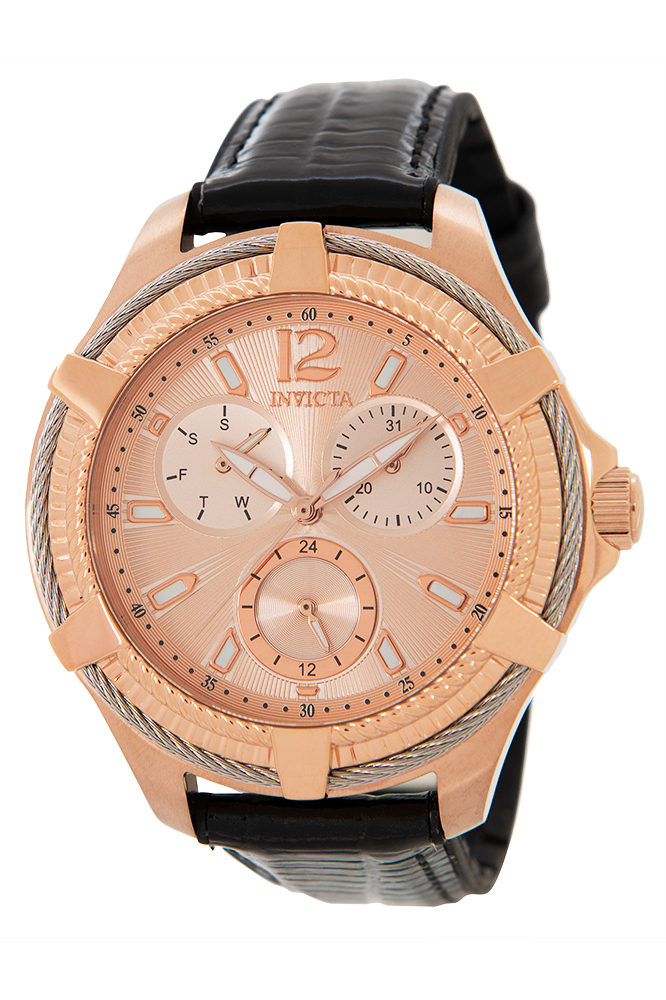 Invicta Bolt Womens Quartz 41mm Stainless Steel Case Rose Gold Dial - Model - 30892