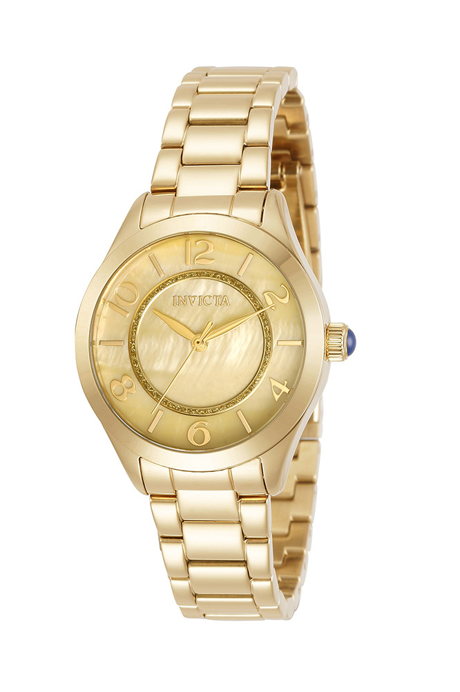 Invicta Angel Womens Quartz 33mm Stainless Steel Case Champagne Dial - Model 31105