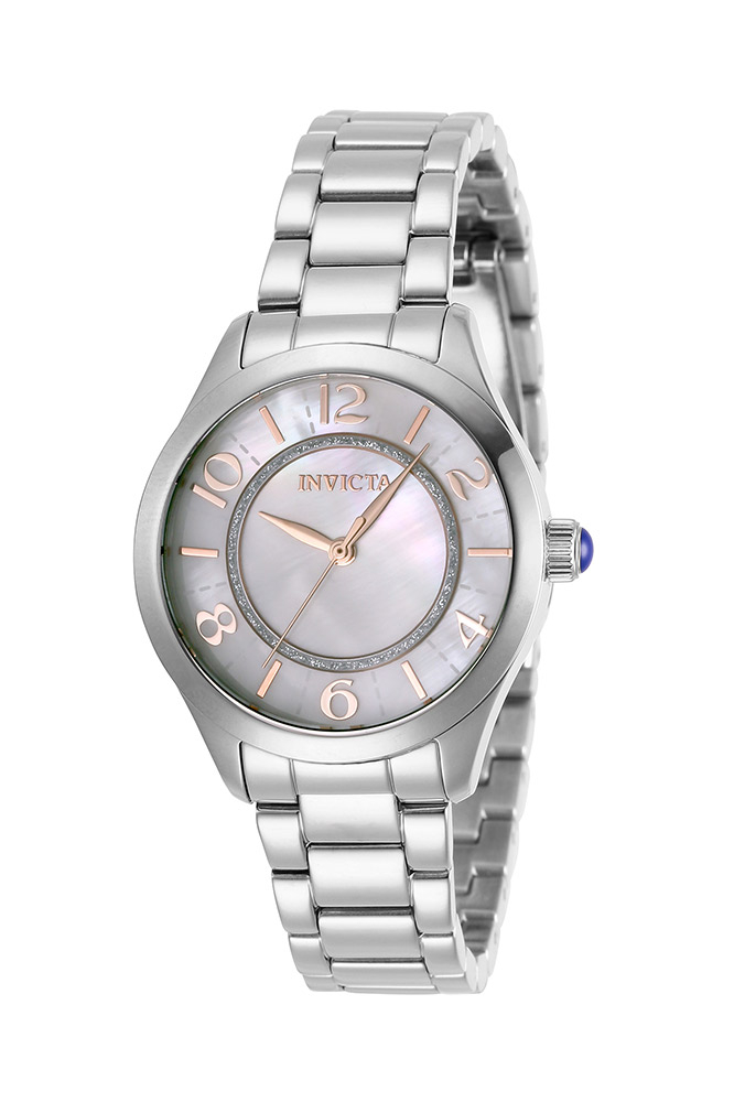 Invicta Angel Womens Quartz 33mm Stainless Steel Case White Dial - Model 31107