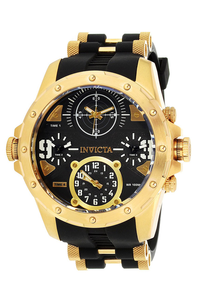 Invicta Coalition Forces Mens Quartz 50mm Stainless Steel Case, Black Dial - Model 31141