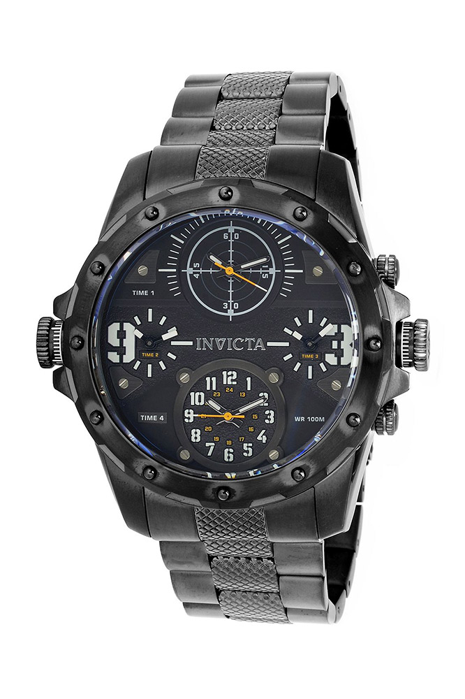 Invicta Coalition Forces Mens Quartz 50mm Stainless Steel Case, Black Dial - Model 31143