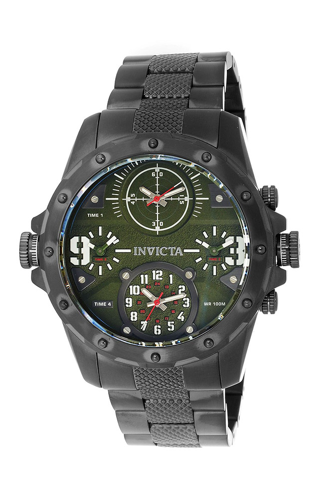 Invicta Coalition Forces Mens Quartz 50mm Stainless Steel Case, Green Dial - Model 31144