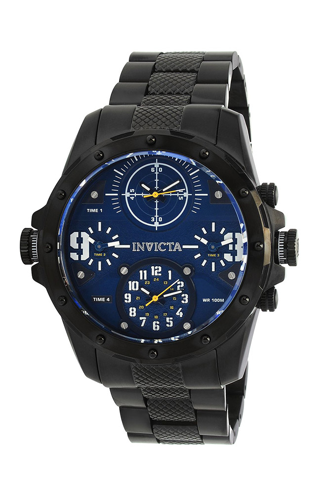 Invicta Coalition Forces Mens Quartz 50mm Stainless Steel Case, Blue Dial - Model 31145