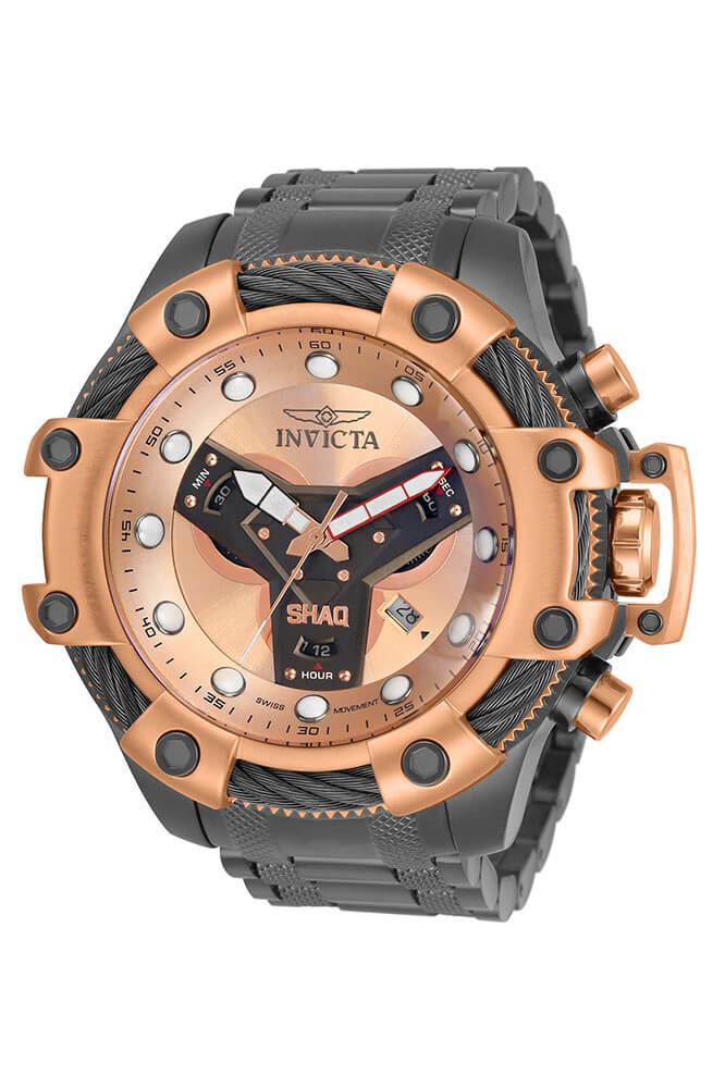 Invicta SHAQ Quartz Mens Watch - 58mm Stainless Steel Case, Stainless Steel Band, Gunmetal (33658)