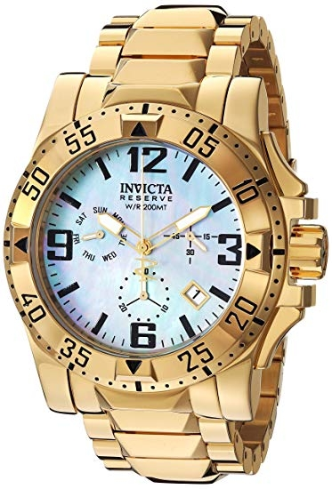 Invicta Reserve Excursion Quartz Watch - Gold case with Gold tone Stainless Steel band - Model 6257