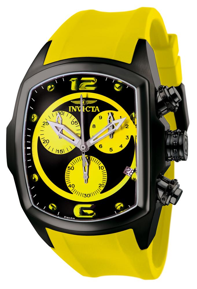 invicta lupah watch in black at invictastorescom