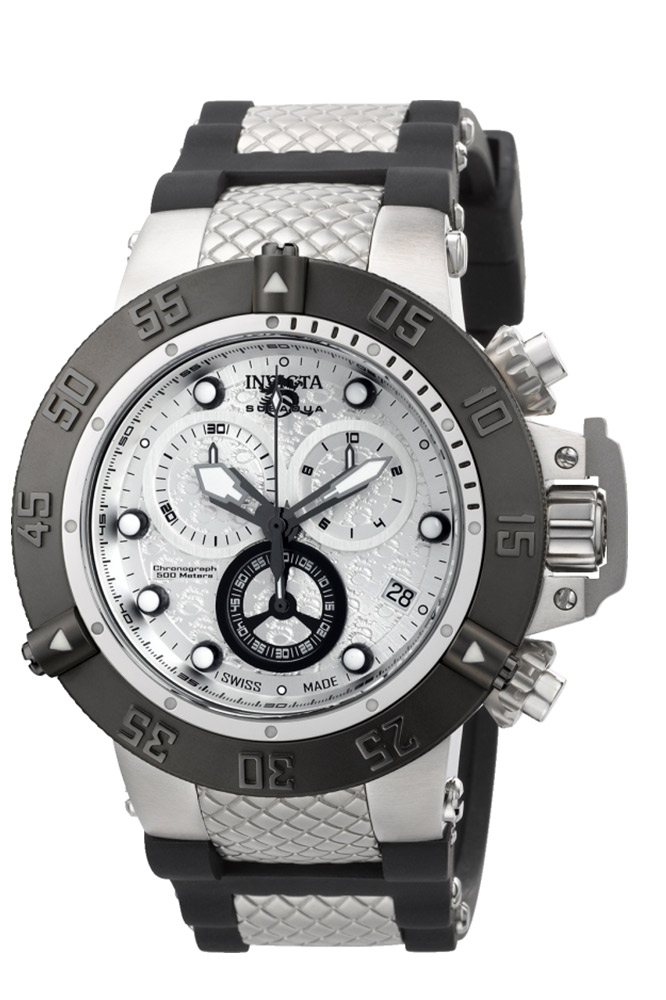 Invicta Subaqua NOMA III Mens Quartz 50mm Antique Silver, Black Case Stainless Steel Dial Model - 90115