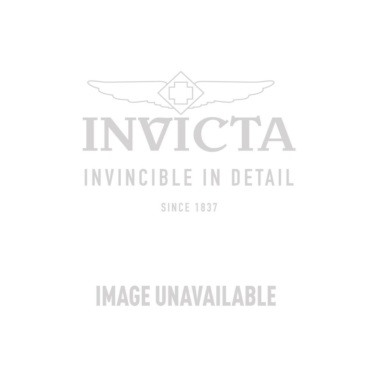 Invicta Corduba Quartz Watch - Black, Gunmetal case with Orange tone Leather band - Model 18933