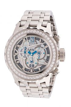 Invicta Jason Taylor Men's Watch w/ Metal, Mother of Pearl, Oyster & Skeleton Dial - 52mm, Steel (33988)