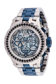 Invicta Jason Taylor Men's Watch w/ Metal, Mother of Pearl & Oyster Dial - 52mm, Steel, Dark Blue (34404)