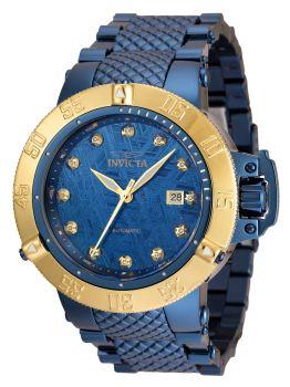 Invicta Subaqua Noma III Automatic Men's Dark Blue, Gold Watch w/ 0.05 Carat Diamonds - 50mm - (35621)