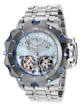 Invicta Reserve Venom Automatic Men's Watch w/ Metal, Mother of Pearl & Oyster Dial - 51mm, Steel (35638)