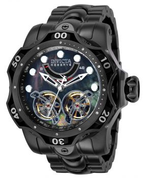Invicta Reserve Venom Automatic Men's Watch w/ Metal, Mother of Pearl & Oyster Dial - 52.5mm, Black (35988)