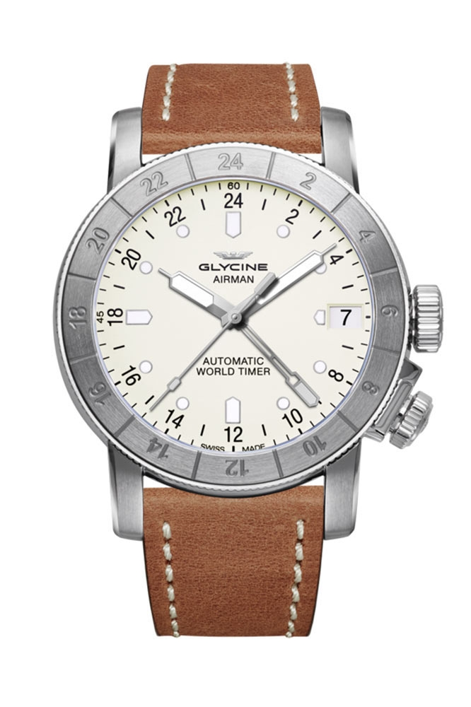 Glycine Airman Mens Automatic 46mm Stainless Steel Case Silver Dial - Model GL0058