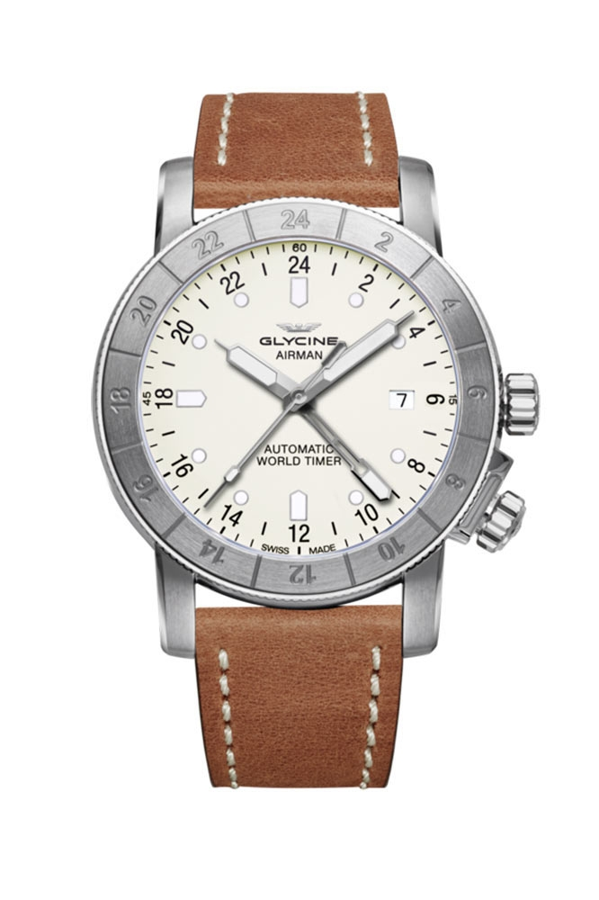 Glycine Airman Mens Automatic 42mm Stainless Steel Case Silver Dial - Model GL0067