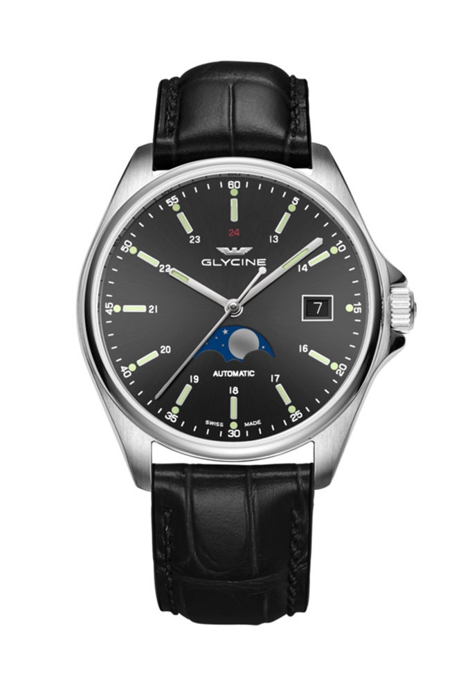 Glycine Combat Mens Automatic 40mm Stainless Steel Case Black Dial - Model GL0116